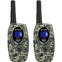 Retevis RT628 Walkie Talkie Niños PMR446 8 Canales 10 Tonos de llamada VOX Bloqueo de Teclado Volumen Ajustable Walkie…
