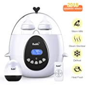 Bable Bottle Warmer, Bottle Steam Sterilizer Multipurpose Bottle Warmer with Remote Control