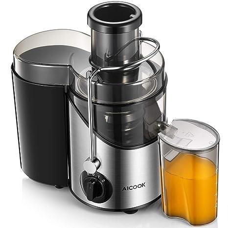 Amazon.com: Extractor de zumo de Aicook con boca de 3.0 in ...