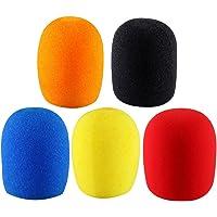5 COLOR Microphone Grill Foam Cover Audio Mic Shield (5pcs Microphone Windscreen Sponge Foam Cover Shield Protection Long term karaoke DJ)