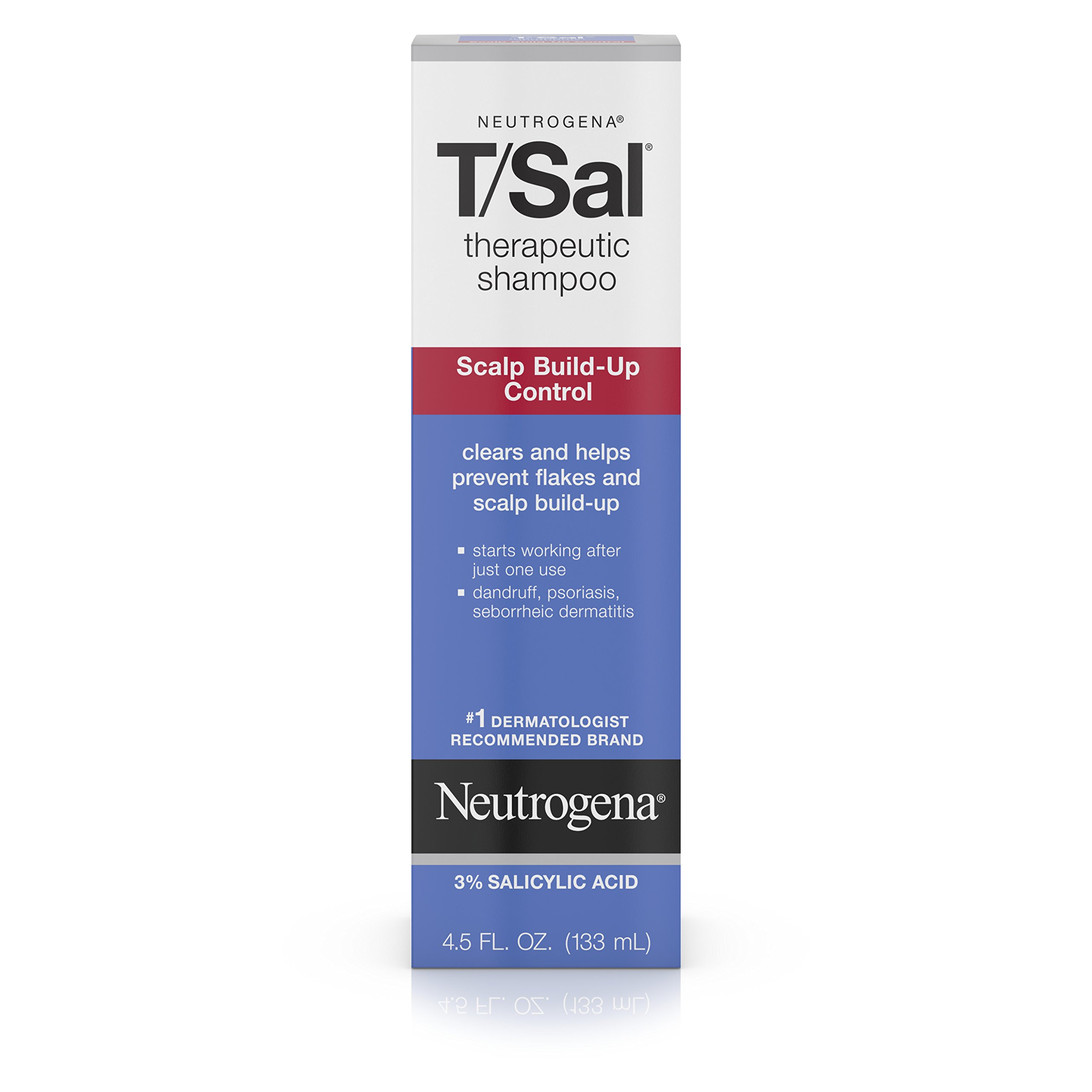 Neutrogena T/SAL Therapeutic Shampoo for Scalp Build-Up Control with Salicylic Acid, Scalp Treatment for Dandruff, Scalp Psoriasis & Seborrheic Dermatitis Relief, 4.5 fl. Oz (Pack of 6)