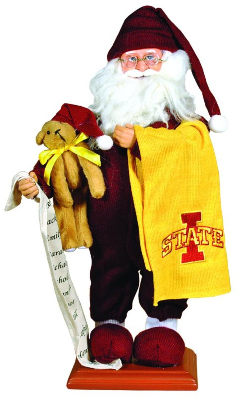 15'' NCAA Iowa State Cyclones Pajama Santa Claus Table Top Christmas Decoration