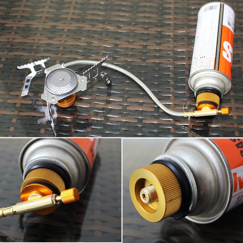 Coolty - 2 adaptadores para Estufa de Gas de Camping para Cartucho de butano a Cartucho de Gas: Amazon.es: Deportes y aire libre
