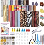 Caydo 36 Pieces Leather Earring Making Kit with Templates, Instructions, 9