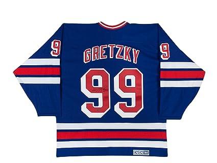 best service 696ef 4e48e Wayne Gretzky Autographed New York Rangers CCM Replica Blue ...