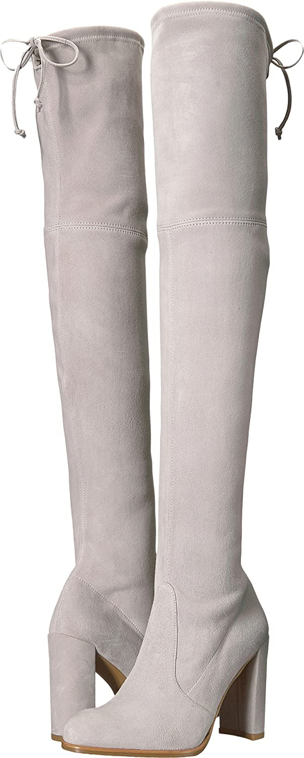 Stuart Weitzman Women's Hiline Over The Knee Boot B07364H1B3 9 B(M) US|Perla Suede