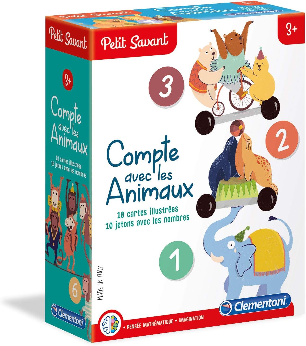 Clementoni pequeño savant-compte con los animales, 52363, multicolor , color/modelo surtido