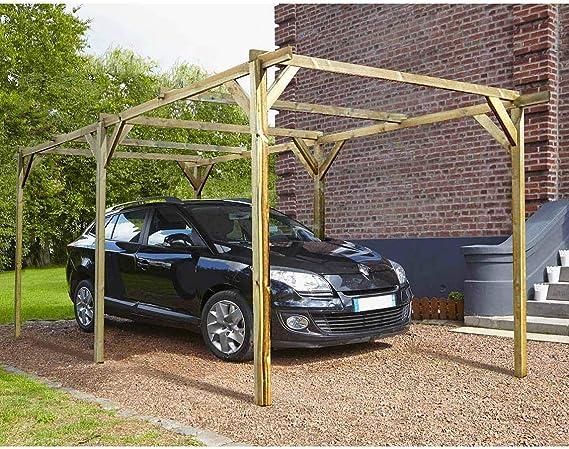 MADEIRA 1-Carport coche madera tratada autoclave-Paco-MADEIRA ...