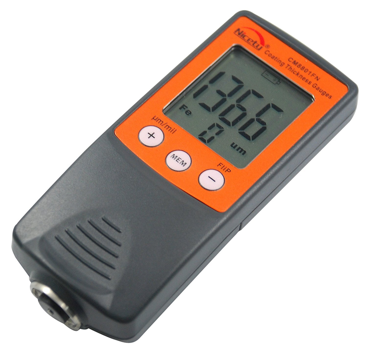 0-1250μm //0-50mil CM8811FN. Coating Thickness Gauge Range