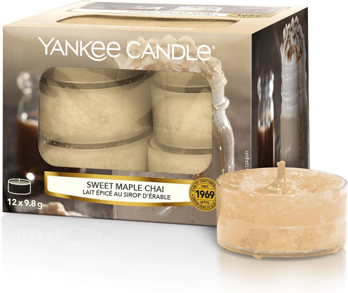 Yankee Candle-Coton frais-Bo/îte de 12 bougies chauffe-plats Parfum/ées