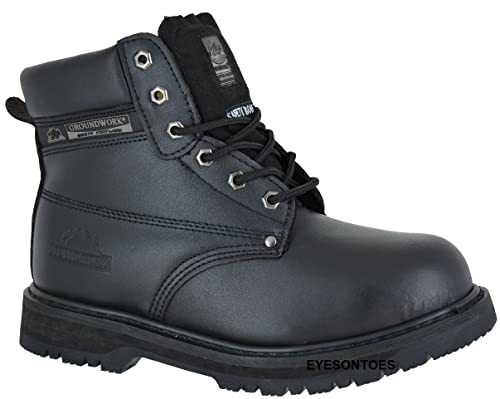5b5a983d0db Groundwork Ladies Work Pink Leather Safety Steel Toe Cap Trainer Hiking  Boots UK 4 5 6 7 8