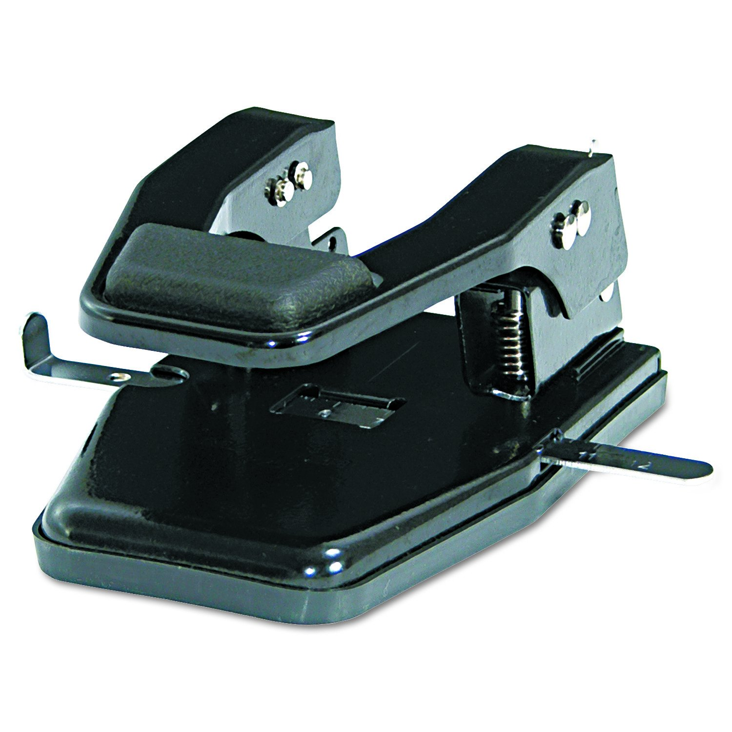 Martin Yale MP250 Master 2-Hole Paper Punch, Black, 9/32'' Hole Diameter, Punches Up To 40 Sheets, Adjustable Paper Guide, Lock-down Handle