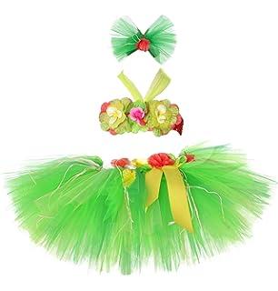Amazon.com: Juego de faldas hawaianas Luau Hula Tutu para ...