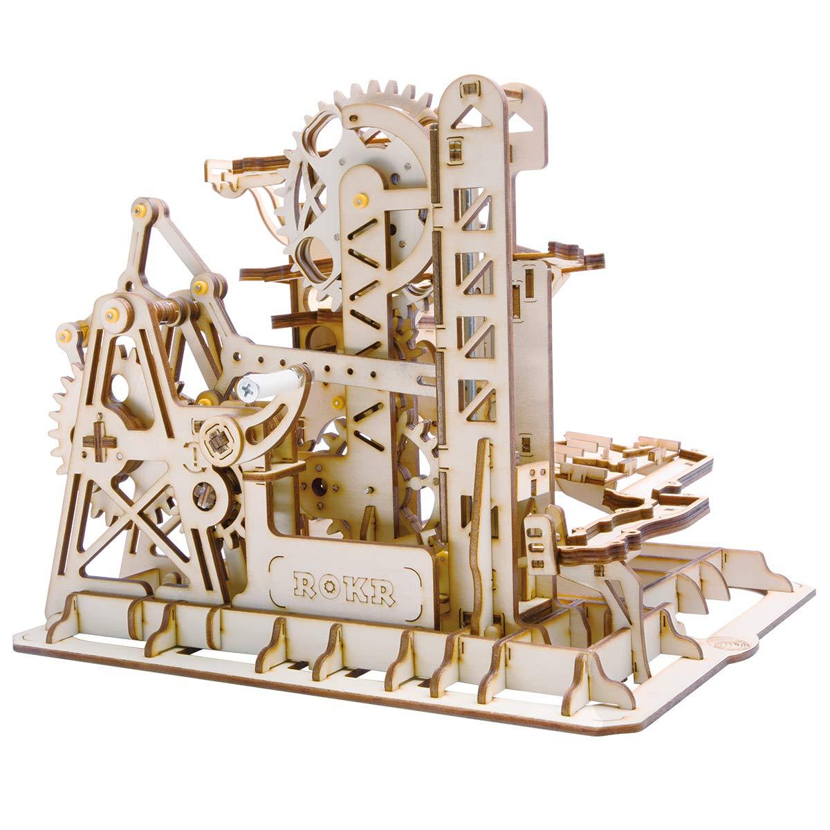 Robotime Mechanical 3D Puzzle Game | Woodcraft Construction Moving Kit | Adult Craft Set (Cog coaster)