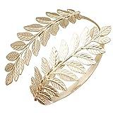 Gold Tone RechicGu Greek Roman Laurel Leaf Bracelet