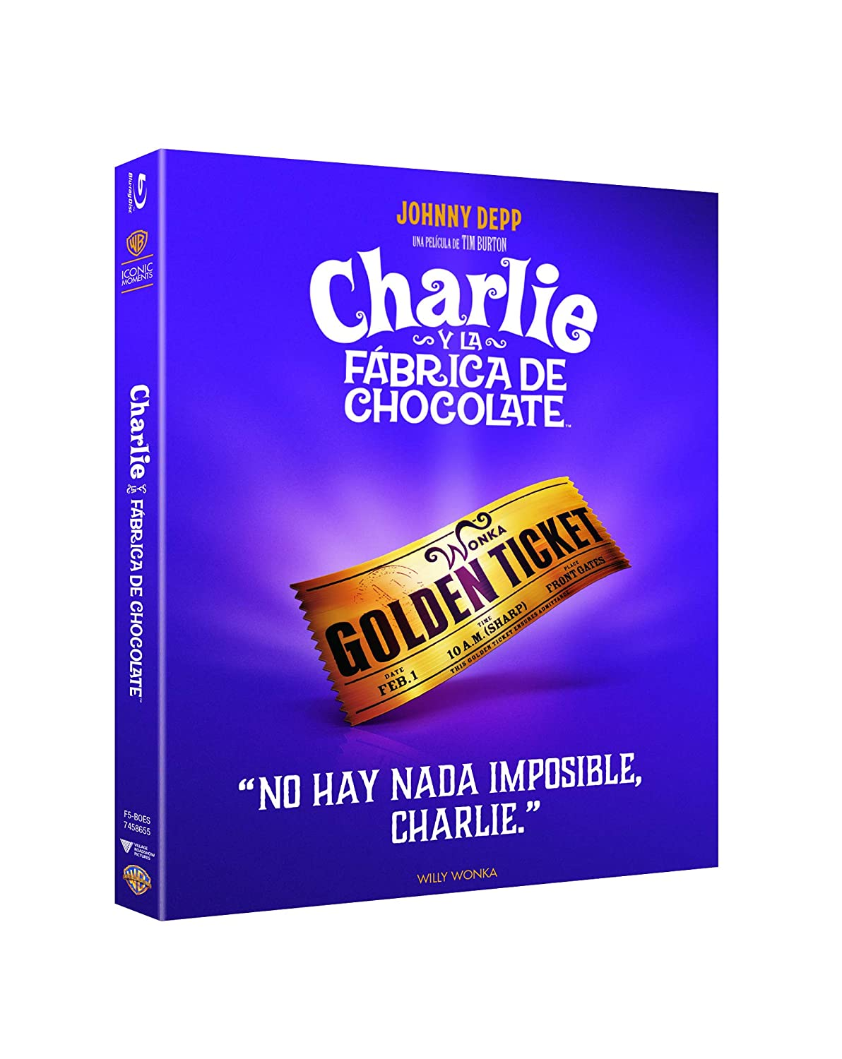 Charlie Y La Fábrica De Chocolate Bluray Iconic Blu-ray ...