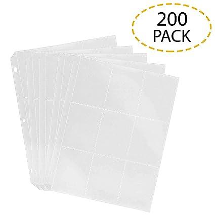 Amazon.com: Trading Protector de tarjeta hojas 9 x 200 de ...
