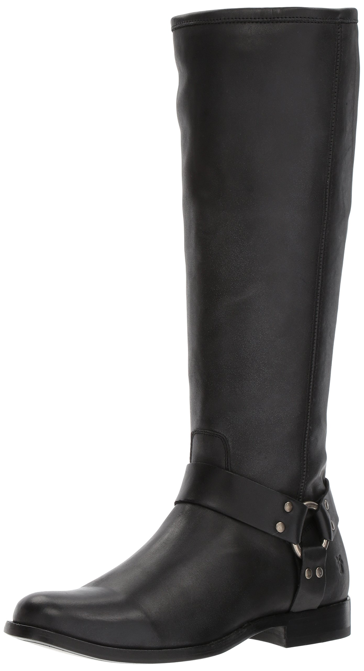 FRYE Women's Phillip Tall Harness Boot, Black, 8.5 M US