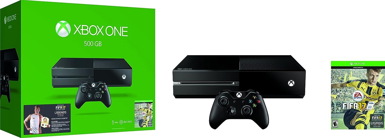 Consola Xbox One 500 Gb Color Negro Juego Fifa 17 Bundle  # Muebles Para El Xbox