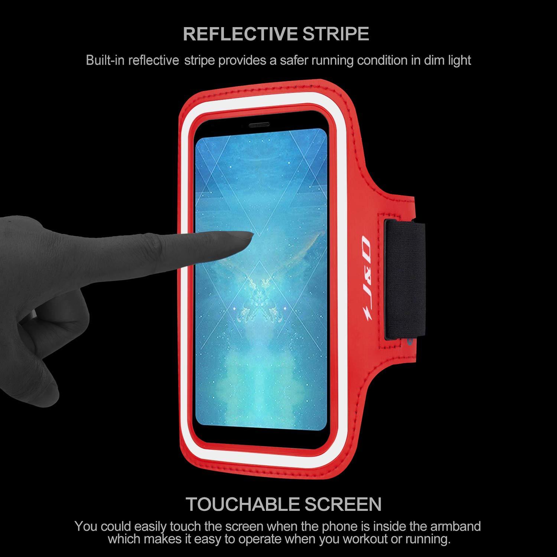J/&D Compatible para Huawei Mate 20//Mate 20 Pro//Mate 20 Lite//Mate X//Honor 8X//Honor Play//P Smart Z Brazalete Deportivo para Correr Ranura para Llaves Conexi/ón Perfecta con Auriculares P/úrpura