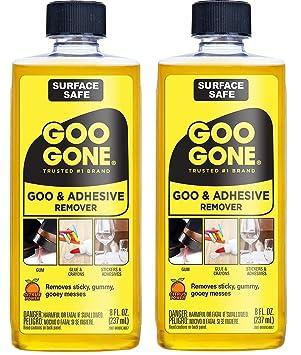 Goo Gone Original Liquid – 2 unidades – 8 onzas – superficie seguro adhesivo removedor de