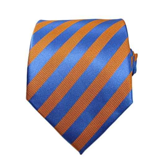 cf934f784b20 Image Unavailable. Image not available for. Color: Bestow Royal Blue &  Orange Striped Ties