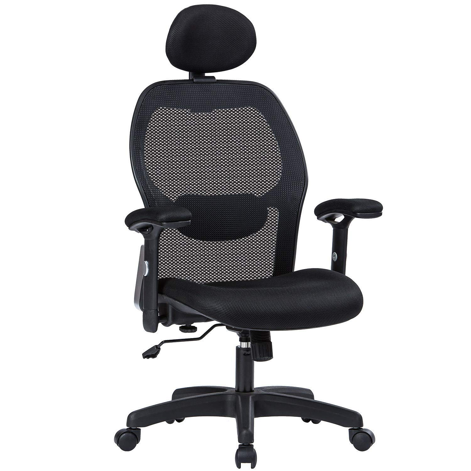 Office Chair Armrest Amazon.com : LIANFENG Ergonomic Office Chair, High Back Executive Swivel  Computer Desk Chair with Adjustable Armrests and Headrest, Back Lumbar  Support, ...
