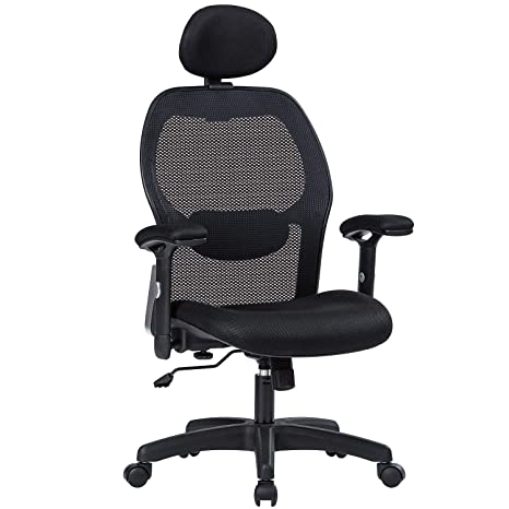 Stupendous Lianfeng Ergonomic Office Chair High Back Executive Swivel Computer Desk Chair With Adjustable Armrests And Headrest Back Lumbar Support Black Download Free Architecture Designs Salvmadebymaigaardcom