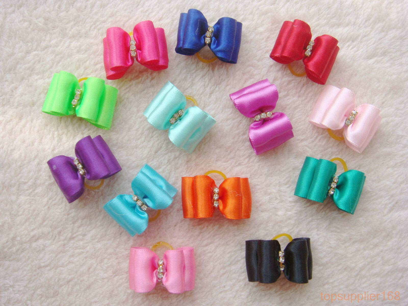 FidgetGear 200 Dog cat Puppy Hair Bow Wholesale Lots of Headdress Hairpin Pets Gift #a11 Show One Size by FidgetGear