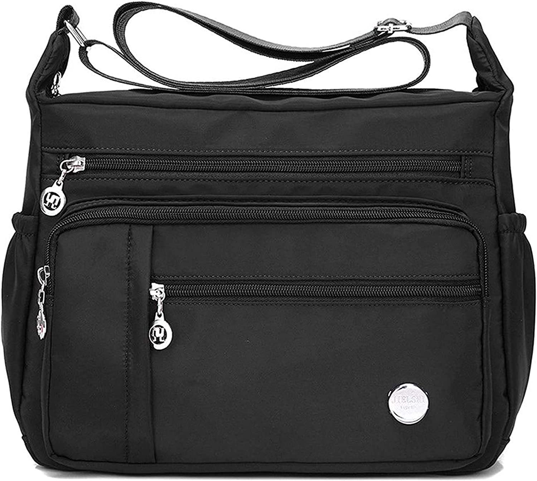Women Lady Waterproof Single-shoulder Messenger Crossbody Bag Nylon Purse Travel