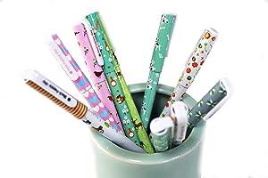 Cute Color Pens for Women Toshine Multi Colored Gel Ink Fine Tip Pens for Bullet Journal Writing Drawing Calendar Agenda Coloring Art Planner Pens Roller Ball Pens for Girls 10 Pcs 0.5 mm Green Forest