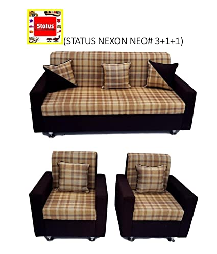 Status Furniture! Nexon Neo# 3+1+1 Luxury Sofa Set With 5