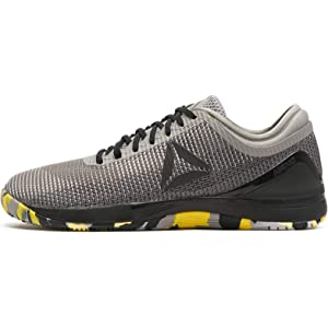 Reebok R Crossfit Nano 8.0, Zapatillas de Deporte Interior para Hombre, (Shark/Tin Ash Grey/Black/Go Yellow 000), 41 EU: Amazon.es: Zapatos y complementos