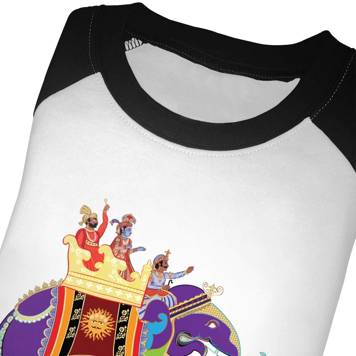 HIGASQ Unisex Baby Indian Elephant Toddlers O Neck Raglan 3//4 Sleeve Baseball T Shirt for 2-6 Boys Girls