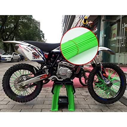 Zacha Wheel Spoke Cover 72pcs Dirtbike Bike es Decoration Colorful Guard sy Install Universal Accessories Wraps Protector Motorcycle Rim Skins Sky Blue