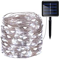 Amir 200-LED 72-Foot Solar-Powered String Lights in White