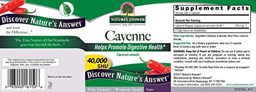 Nature's Answer Cayenne Pepper Vegetarian Capsules, 90-Count