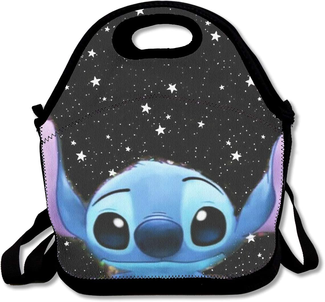 Lilo Stitch Personalize Design Waterproof Portable Trolley Handle Luggage Bag Travel Bag