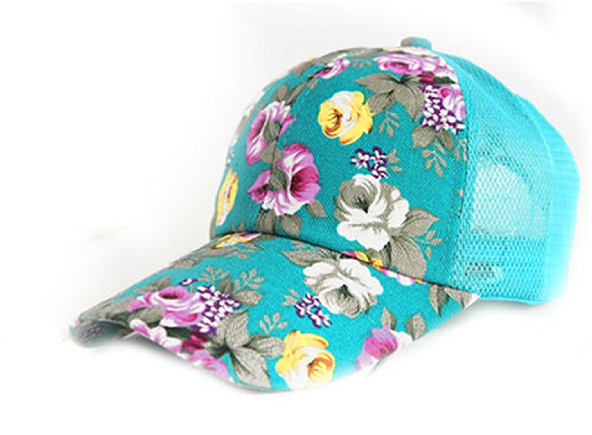 Barry picks Female Floral Baseball Hat for Women Spring and Summer Casual Cap Girls Sun Snapback Hats for Sport l Leisure,Adjustablefreesize,SkyBlue