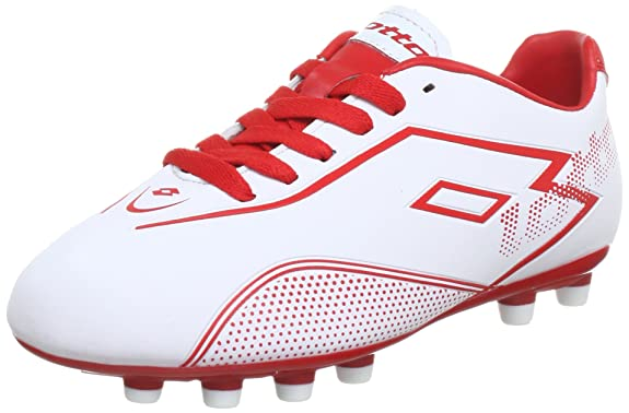 Lotto Sport Stadio Potenza II 700 FG, Jungen, Gr. 36 (EU), white/risk red