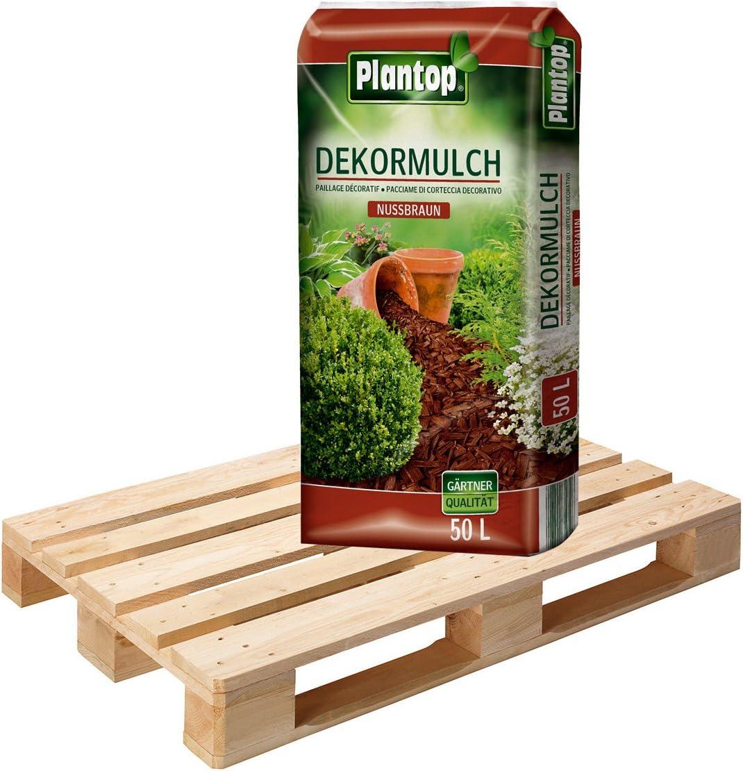 1 Palette DekorMulch Nussbraun mit 39 Sack je 50 Liter = 1950 Liter