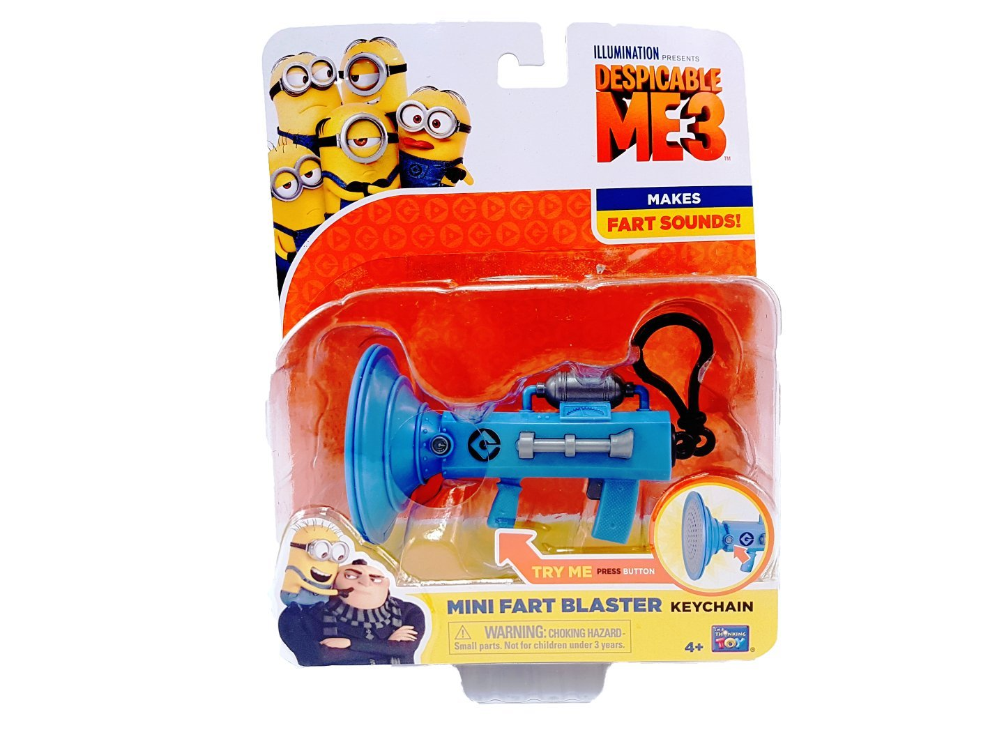 Thinkway Toys Despicable Me 3 - Mini Fart Blaster Keychain by Thinkway Toys