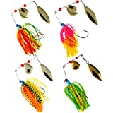 Threemart Mini-King Fishing Hard Spinner Lure Spinnerbait Pike Bass 16.3g/17g