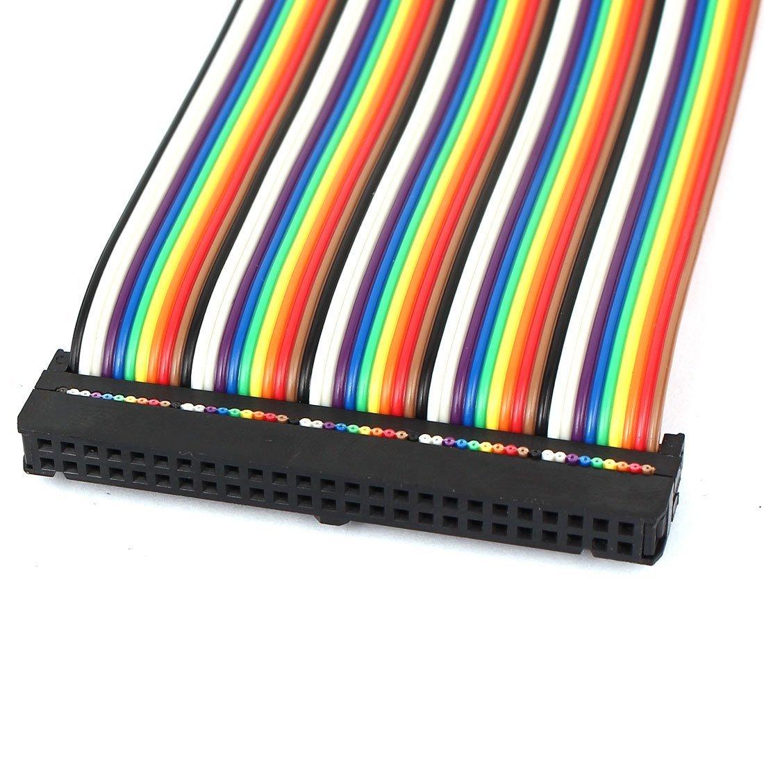 eDealMax connettore IDC Piatto Arcobaleno cavo a nastro, F/F, 50 Pin, 50 Way, 1.4'