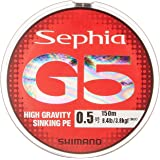 シマノ(SHIMANO) PEライン セフィア G5 150m 0.8号 マルチカラー PL-E55N