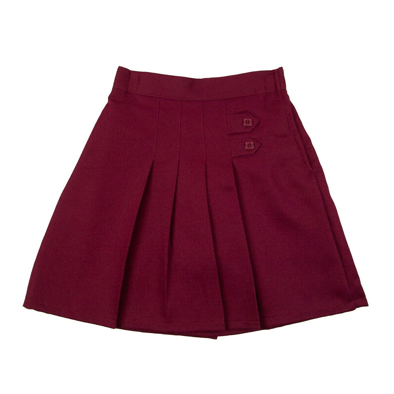 Genuine Girls Two Tab Pleated Front School Uniform Skort