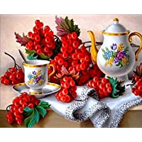 5D DIY Diamond Painting, Embroidery Painting Wall Sticker for Wall Decor Full Drill - Fruits 12 x 16inch