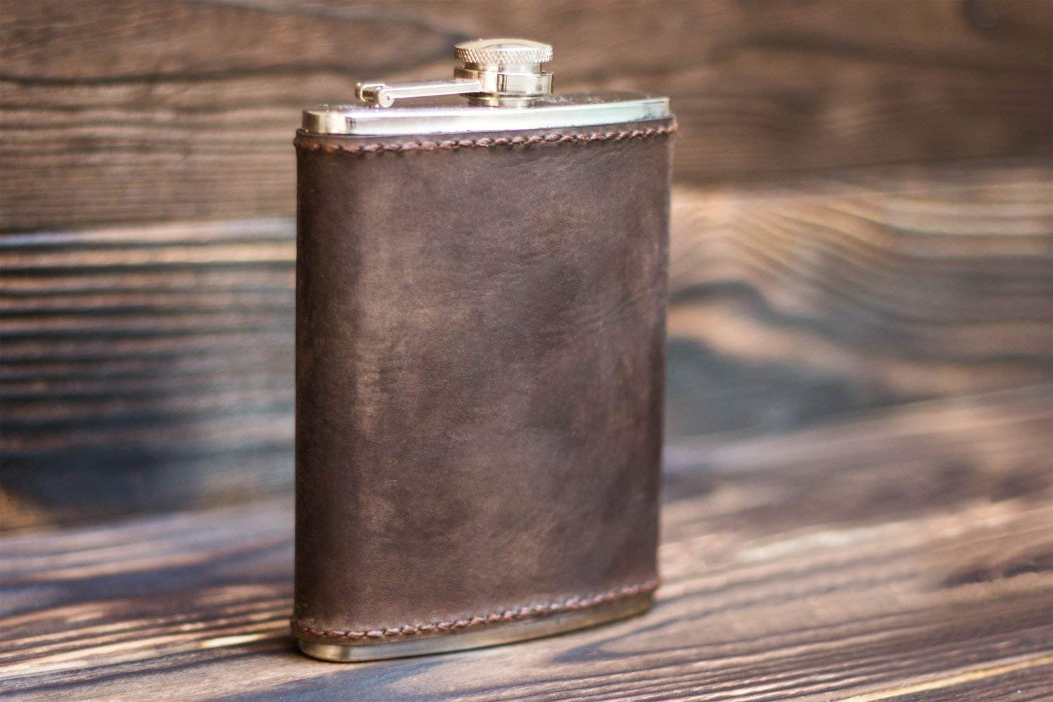 Flask Leather Flask Personalized Flask Groomsmen Flask Engraved Flask Hip Flask Custom Flask Mens Flask Best Gift To Him Mens Gift Handmade