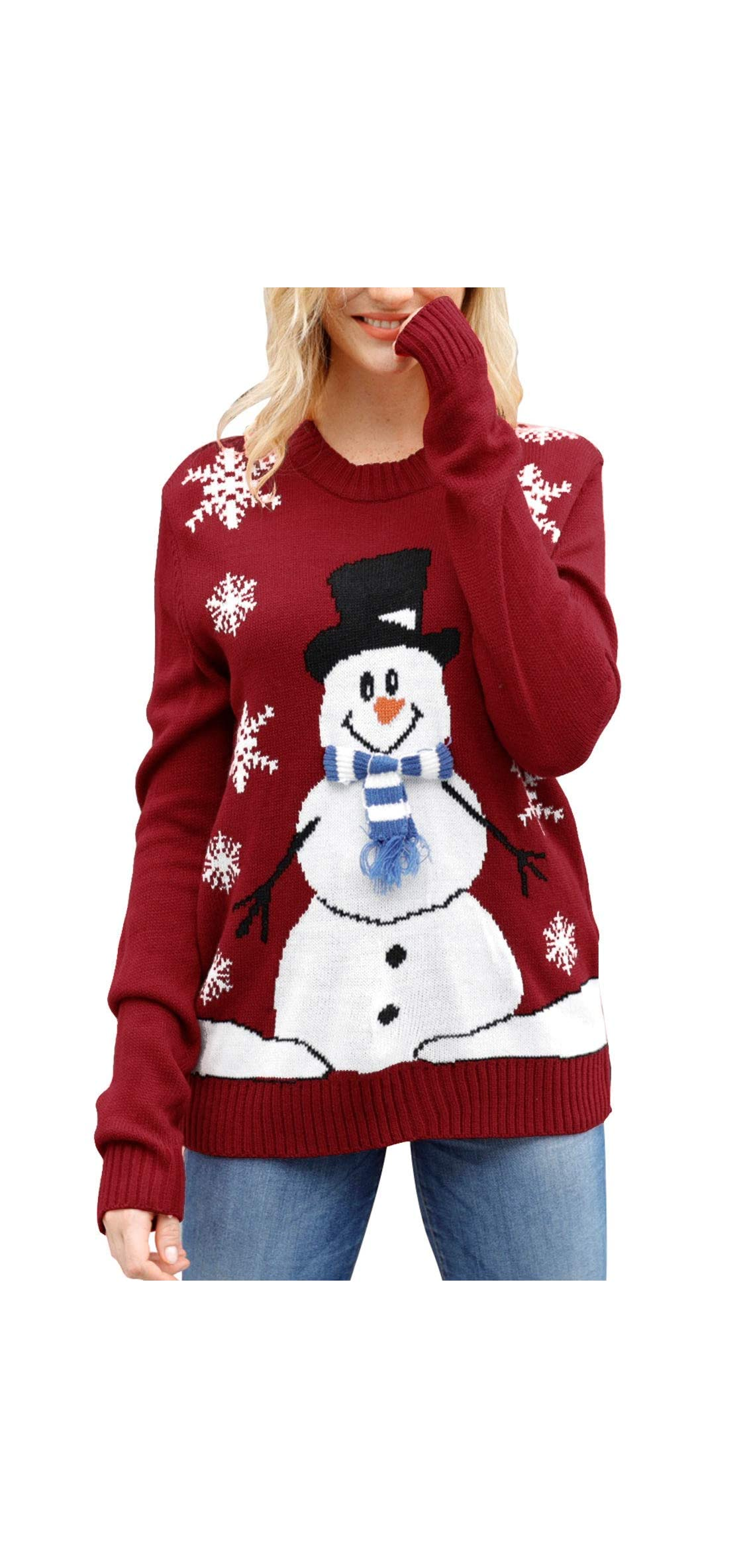 Women's Cute Funny Hilarious Ugly Christmas Sweater