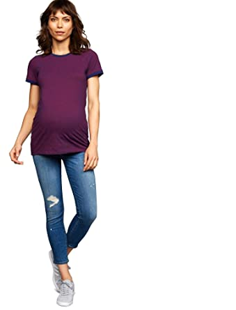 325b4435b9b14 Jbrand Side Panel Skinny Leg Maternity Crop Jeans at Amazon Women's  Clothing store: